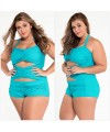 Sweetheart Ruched Plus Size One-Piece Swimsuit