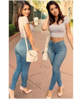 Denim Classic High Waist Skinny Jeans