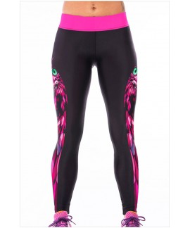 Sexy Fuchsia Night Owl High Stretch Leggings