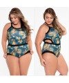 Sexy Cutout Monokini Plus Size One-Piece Swimwear