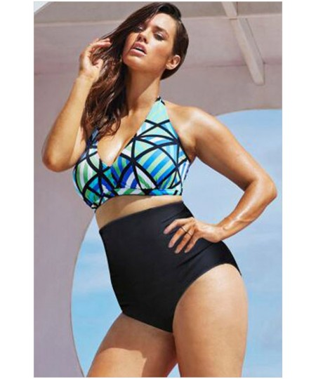 Diva Beach Glass Plus Size High Waist Bikini