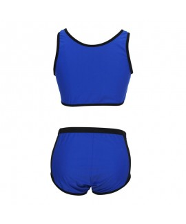 Plus Size Tropical Style High Waist Bathing Suit