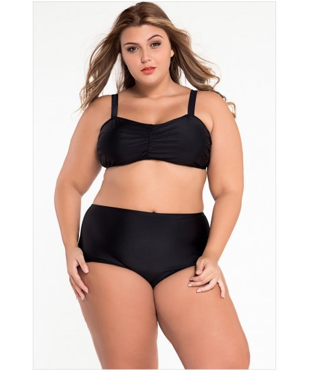Plus Size High Waist Bikini Swimsuit