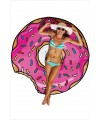 Pink sweet ring cotton print Beach Blanket