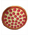 New cotton round printed cloth pizza beach blanket