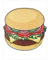 New cotton round printed Hamburger beach blanket