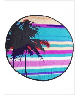 Coconut Tree Round Cotton Beach Towel