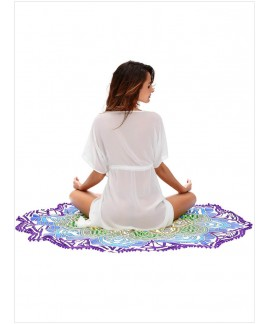 Magic Mandala Lotus Colorful Beach Towel