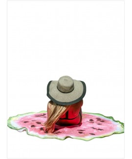 Watermelon Round Beach Towel