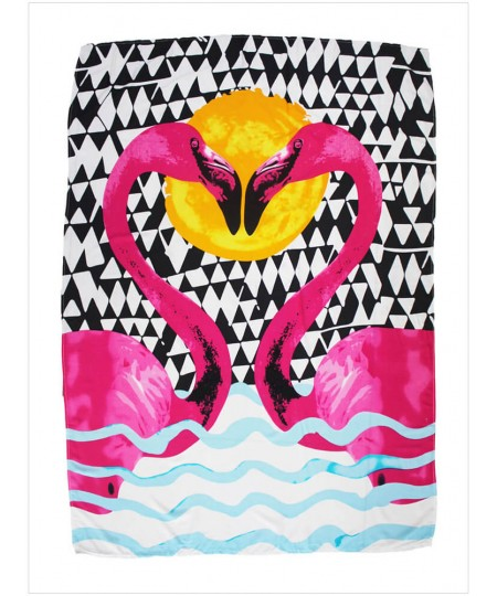 Sweet Flamingo Lover Rectangular Beach Towel