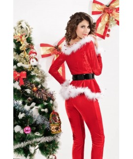 Punky Santa Hoodie and Pants Christmas Costume