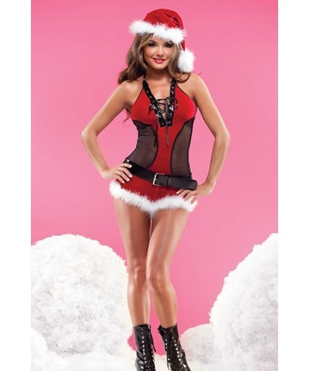 Halter Teddy Christmas Costume