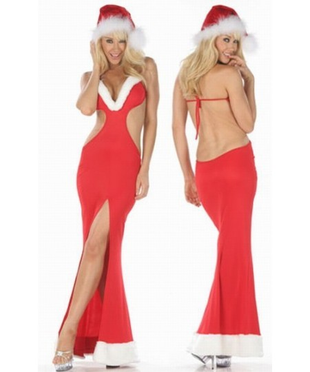 Hooded halter sexy Christmas costume