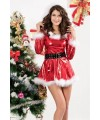 Punky Santa Hoody Dress with Belt