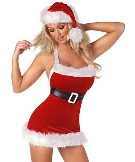 Christmas Lingerie Costume with hat and belt
