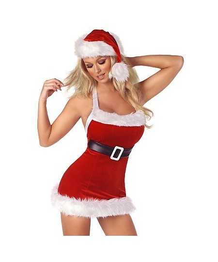 8e4d44096 Christmas Lingerie Costume with hat and belt - Sheinline