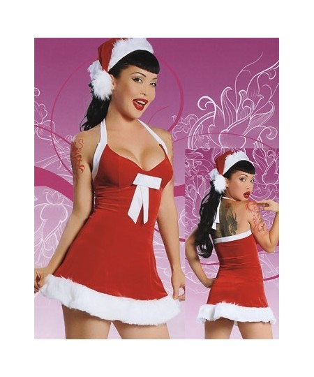 Sexy santa christmas lingerie costume