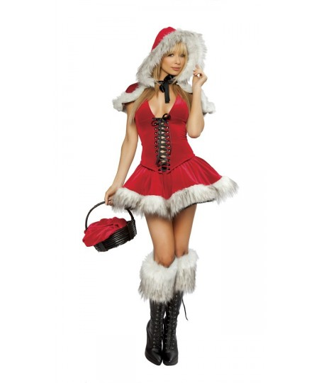 4 Piece Red Riding Hood Vest Christmas Costume