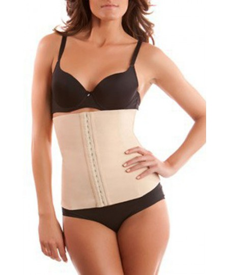 Plus Size Beige 4 Steel Bones Latex Under Bust Corset Lingerie