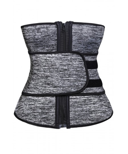 Women Neoprene Workout Waist Trainer Corset Belt Body Shaper Cincher Latex Sport Girdle with Zipper