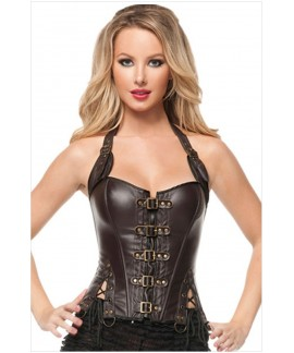 Sexy Buckle-up Steampunk Corset