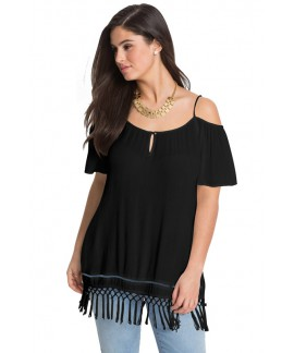 Summer Cold Shoulder Plus Size Blouse Top for Women