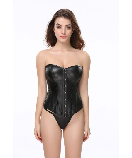 Sexy Leather Bodywear Sexy Underwear Large Steel Corset Overbust Corset