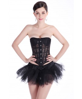Summer breathable lace bundles with chest pads steel boned Corset
