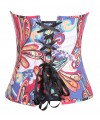 Women Waist Trainer Colorful Print Body Shaper Strapless Overbust Corset