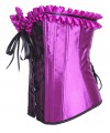 Purple Vintage Palace Lace Body Shaper Steel Boned Overbust Corset