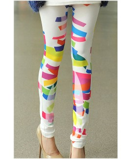 Stretch Irregular Pattern Printed Leggings