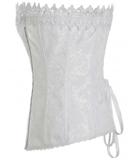 Women Vintage Palace Body Shaper Steel Boned Lace Underbust Corset