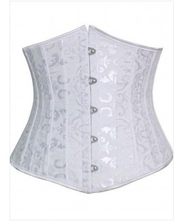 Plus Size Jacquard Underbust Corset with 24 Steel Bones