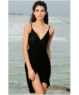 Sexy Stylish Cross Front Beach Cover-up