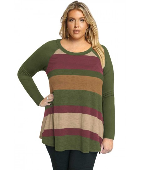 Multi Colorblock Raglan Sleeve Plus Size Women Top