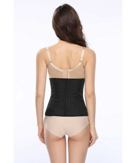 Women latex waist training body shaper steel boned underbust Corset