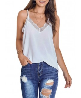 Delicate Balance Lace Cami Tank Tops