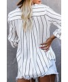 Crisp Air Button Down Embroidered Top
