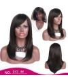 Womens long straight gradient color hair wig