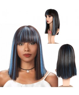 Cosplay straight shoulder-length hair wigs