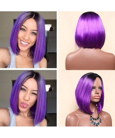 Cosplay gradient bob jackson synthetic hair wig