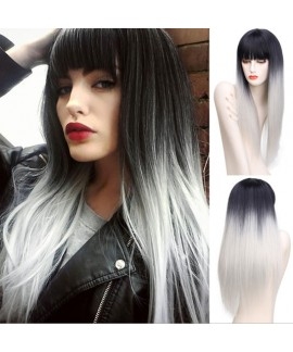 Long straight temptress heat friendly synthetic wig