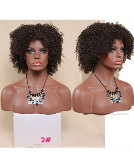 Celebrity kinky curly synthetic hair wig for women