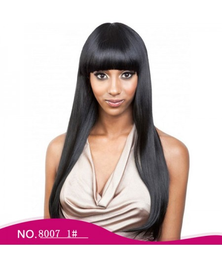Long silky straight skyler heat-friendly Synthetic wig