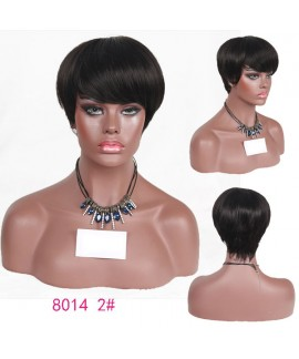 Celebrity short straight mother synthetic wig