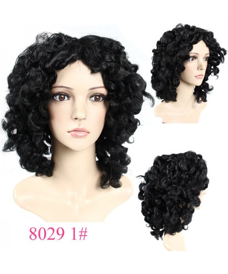 Loose curly Heat-Friendly Synthetic Hair African American wig