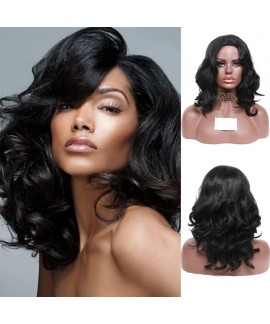 Natural wave classic angelica synthetic wig for black women