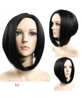 Women bobo straight none Lace synthetics wig
