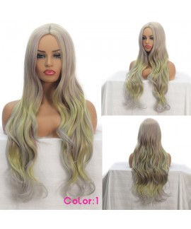Classics cosplay gradient long natural wave synthetics wig