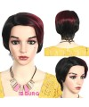 New short straight gradient synthetics mother wigs